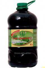 농축 물 ROST-5 : 5 : 5. 4리터. PET 병입니다. NPK 풍부 칼륨 휴민 산염에 기초 비료