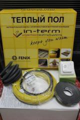 Теплый пол 1,7-2,7 м.кв 350Вт ADSV Fenix IN-TERM кабель двужильный 17м.пог