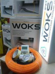 Теплый пол 9 м.кв Woks 900 Вт тонкий нагревательный кабель 94м