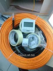 Теплый пол Woks 10 тонкий экономный нагревательный двухжильный кабель под плитку без стяжки.