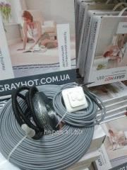 Heat-insulated floor electric GrayHot 12 of sq.m