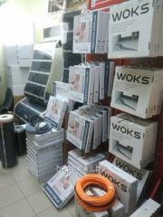 Теплый пол 5 м.кв Woks 500вт тонкий нагревательный кабель 53м