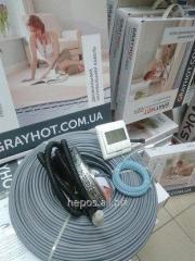Тепла підлога електрична кабельна GrayHot 2,3 м2