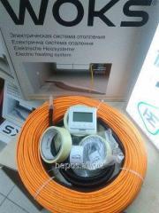 Нагревательный кабель Woks 10 для тонкого теплого пола под плитку без стяжки.