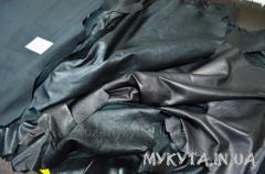 Кожа черная одежная (сток по 1-3 шкурки)