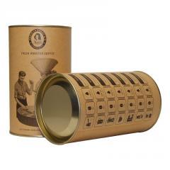 Dessert ground coffee in gift tubes of TM NADIN