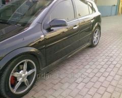 Боковые юбки HB (под покраску) Opel Astra H