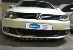 Улыбка на передний бампер U (нерж) Volkswagen