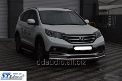 Передняя защита ST008 (нерж.) Honda CRV (2012+)