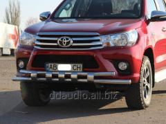 Передняя защита ST015 (нерж) Toyota Hilux (2015+)