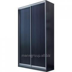 The sliding wardrobe is 2-door, Colour: Wenge,