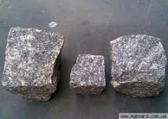 Granite from Korostyshev. Stone blocks, plates