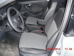 Авточехлы Экокожа+ткань Volkswagen Polo (2009+)