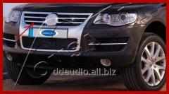 Накладки на решетку (4 шт, нерж) Volkswagen Touareg (2002 - 2010)