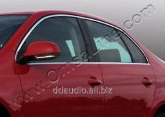 Верхняя окантовка стекол (нерж) Volkswagen Jetta (2006-2011)
