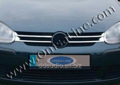 Накладки на решетку (4 шт, нерж) Volkswagen Golf 6