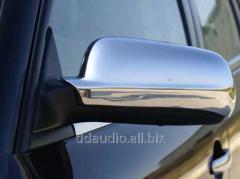Накладки на зеркала (2 шт) Полированная нержавейка Volkswagen Bora (1998-2004)