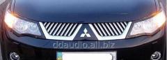 Накладки на решетку (нерж) Mitsubishi Outlander (2008-2013)