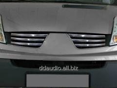 Накладки на решетку (6 шт, нерж) Renault Trafic (2001-2007)