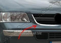 Окантовка решетки радиатора (нерж) Volkswagen T5 Transporter (2003-2010)