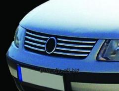 Накладки на решетку 1996-2001 (нерж) Volkswagen Passat B5 (1997-2005)