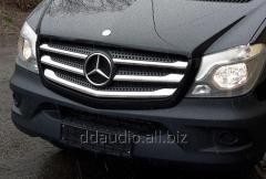 Накладки на решетку (2013+, нерж.) OmsaLine - Итальянская нержавейка Mercedes Sprinter (2006+/2013+)