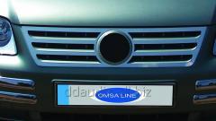 Накладка на решетку (нерж) Carmos - Турецкая сталь Volkswagen Caddy (2004-2010)