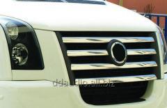 Накладки на решетку 2006-2011 Carmos - Турецкая сталь Volkswagen Crafter (2006+/2011+)