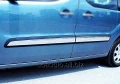 Молдинг дверной (4 шт, нерж) Carmos - Турецкая сталь Peugeot Partner Tepee (2008+)
