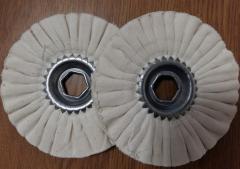 Circle polishing on the kromkooblitsovochny