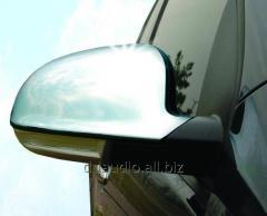 Накладки на зеркала (2 шт, нерж) Carmos - Турецкая сталь Volkswagen Golf 5+ Plus
