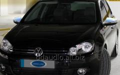 Накладки на зеркала (2 шт, нерж) Carmos - Турецкая сталь Volkswagen Golf 6