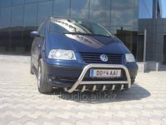 Кенгурятник WT003 (нерж) 60 мм, с надписью Volkswagen Tiguan (2007+/2012+)