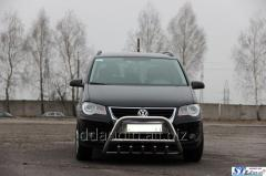 Кенгурятник WT003 (нерж) 60 мм, без надписи Volkswagen Touran (2003-2010)