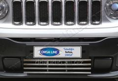 Решетка в бампер (нерж) Jeep Renegade