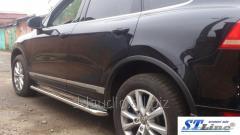 Боковые площадки Premium (2 шт, нерж) 42 мм Volkswagen Touareg (2002-2010)