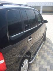 Боковые площадки Premium (2 шт, нерж) 42 мм Volkswagen Touran (2010+)