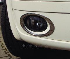 Окантовка на протитуманки (2 шт., нерж.) Carmos - турецкая сталь Volkswagen T5 рестайлинг (2010-2015)