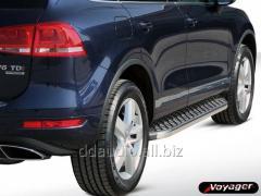 Боковые площадки BlackLine (2 шт, алюминий) Volkswagen Touareg (2002-2010)