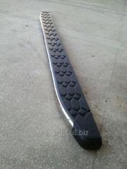 Боковые площадки BlackLine (2 шт, алюминий) Volkswagen Amarok