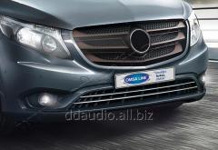 Накладки на решетку бампера (2 шт, нерж) Mercedes Vito W447 (2014+)