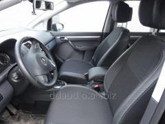 Авточехлы Экокожа+ткань Volkswagen Touran (2010+)