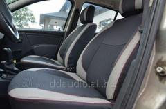 Авточехлы Экокожа+ткань Dacia Sandero (2007-2013)