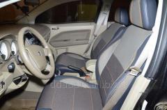 Авточехлы Экокожа+ткань Dodge Caliber (2006-2011)