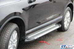 Боковые площадки Line (2 шт., алюминий) Volkswagen Touareg (2010+)