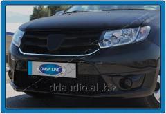 Накладки на решетку (1 шт, нерж.) Dacia Logan MCV (2013+)