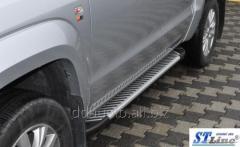 Боковые площадки Line (2 шт, алюм) Volkswagen Amarok