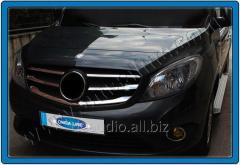 Накладки на решетку (5 шт, нерж) Mercedes Citan (2013+)