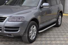 Боковые площадки Fullmond (2 шт, алюм) Volkswagen Touareg (2002-2010)