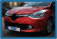 Накладки на решетку (2 шт, нерж.) Renault Clio IV (2012+)